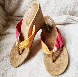 Gianni Bini thong wedge sandal, 9.5